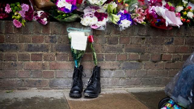 Die Stiefel des Soldaten.