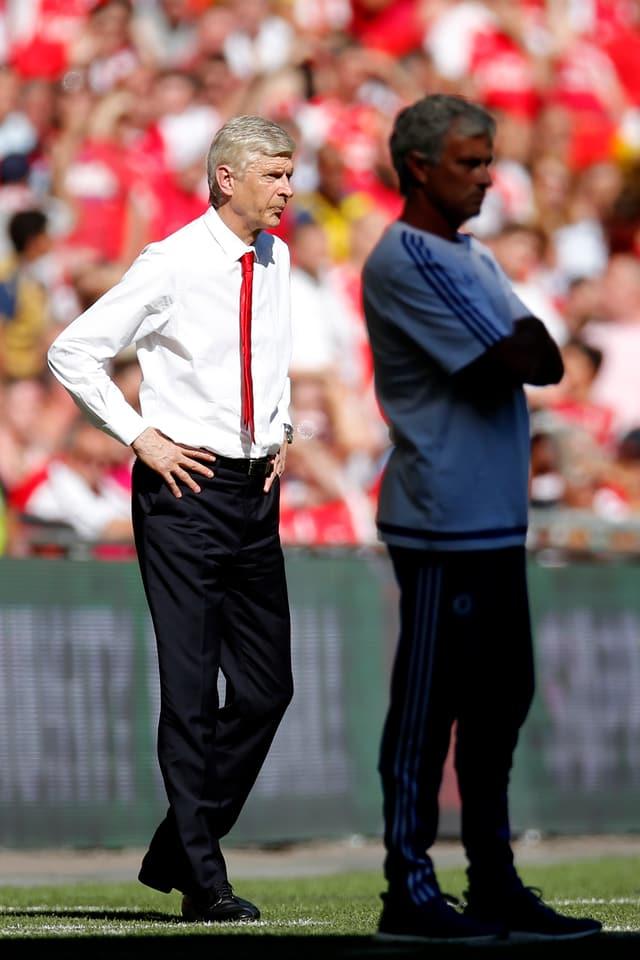 Arsène Wenger (links) und José Mourinho.