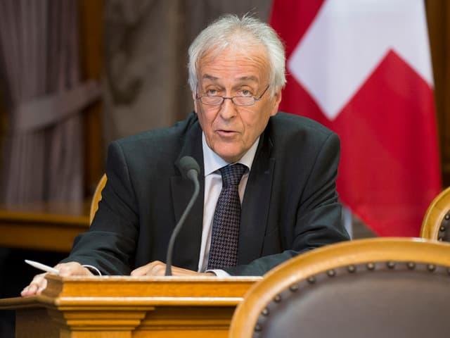 CVP-Politiker René Imoberdorf im Ständerratssaal. (keystone)