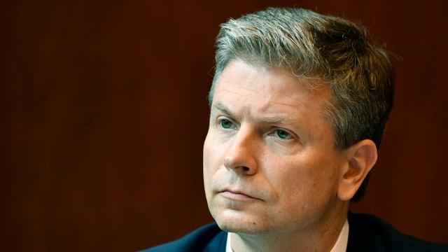 Purtret da Pascal Gantenbein, president ad interim da la banca Raiffeisen.