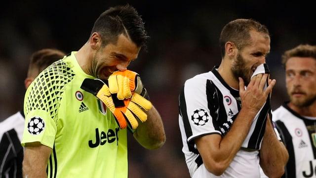 Enttäuschte Juve-Spieler.