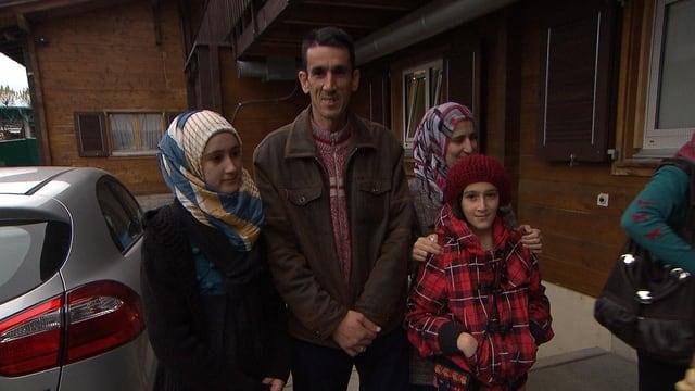 Mais' Ankunft mit ihrer Familie in der Schweiz 2013