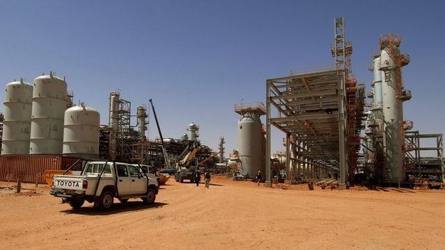 Das von Terroristen besetzte Gasfeld im algerischen Aménas.