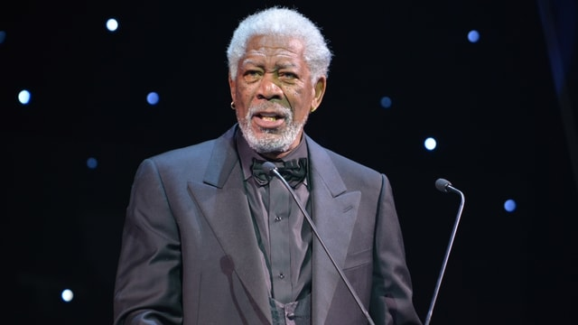 Schauspieler Morgan Freeman bei der Preisverleihung.