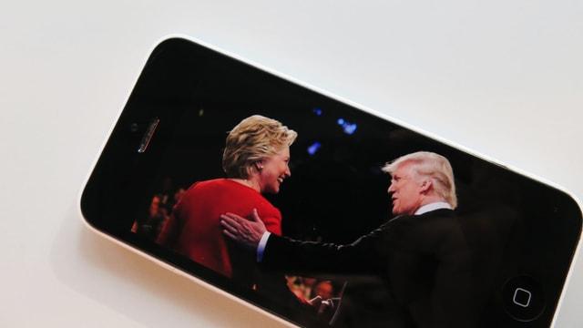 Clinton und Trump.