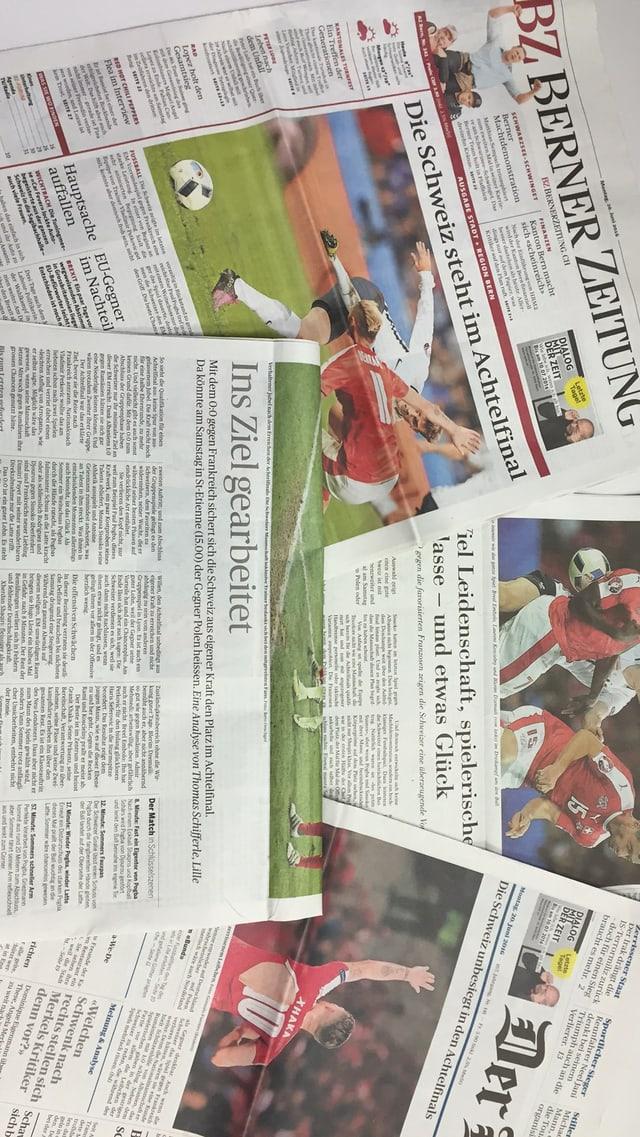 Ausschnitte aus der Tagespresse vom 20. Juni.