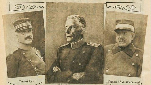 Alte Abbildungen von Egli und von Wattenwyl