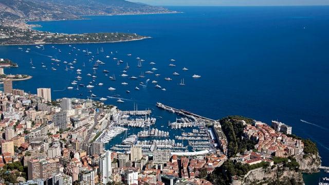 Blick auf den Hafen von Monaco.