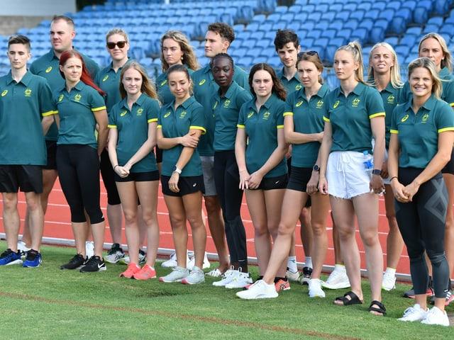 Das australische Leichtathletik-Team.