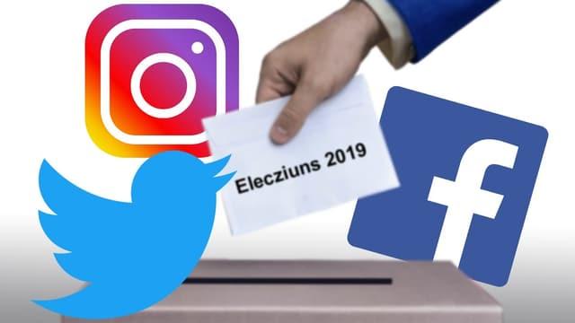 Ils logos da Instagram, Twitter e Facebook.