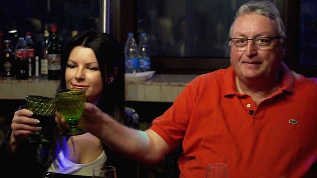 Roland Lei feiert mit seiner Partnerin Katja Geburtstag