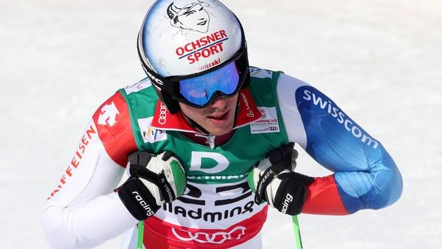 Carlo Janka nach dem 1. Lauf im WM-Riesenslalom.