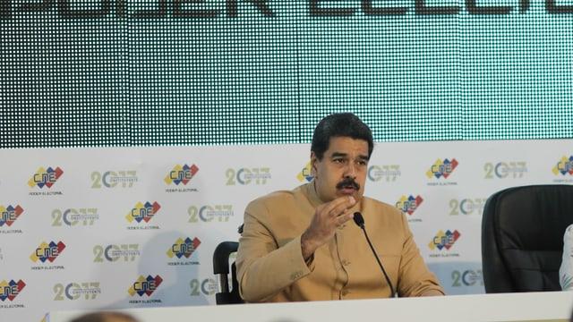 Nicolas Maduro nach der Wahl der verfassungsgebenden Versammlung.