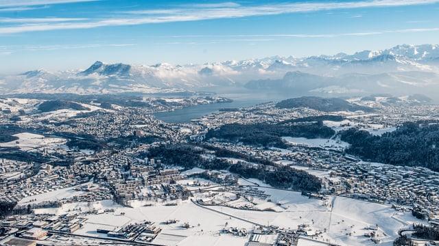 Zentralschweiz in der Vogelperspektive