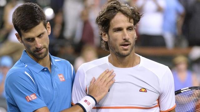 Djokovic und Lopez.