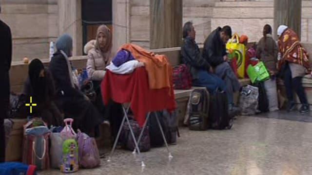Flüchtlinge am Bahnhof Milano Centrale