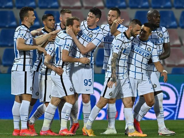 Die Spieler von Inter Mailand.