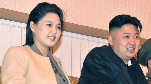Kim Jong Un mit Gattin Ri Sol Ju.