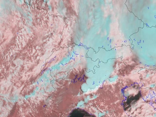 Satellitenbild Schweizausschnitt zeigt den Nebel
