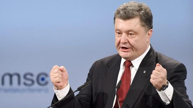 Petro Poroschenko, il president da l'Ucraina.