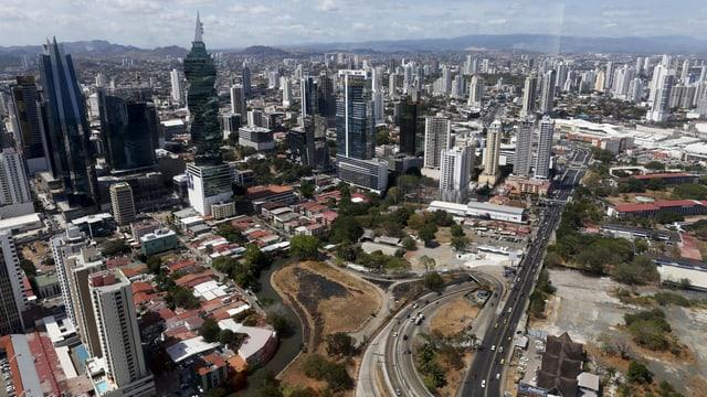 Blick auf Panama-City.