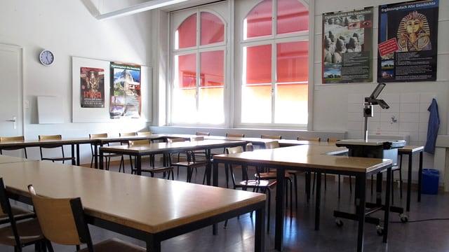Klassenzimmer an der Schaffhauser Kantosschule.