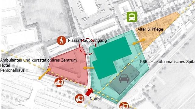 Karte des möglichen Neubaus.