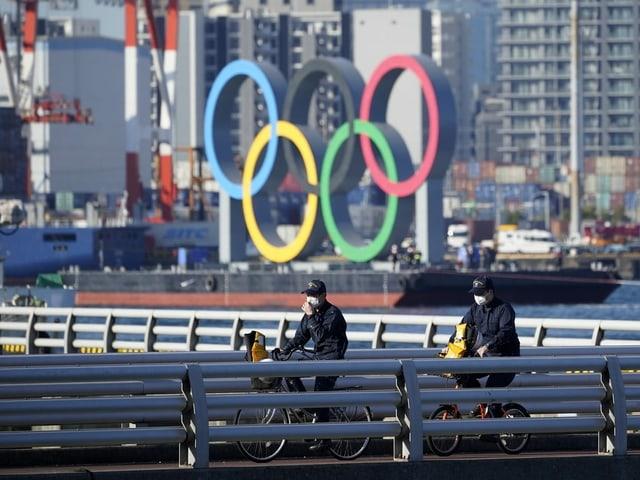 Olympische Ringe in Tokio.