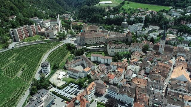 Luftbild der Churer Altstadt