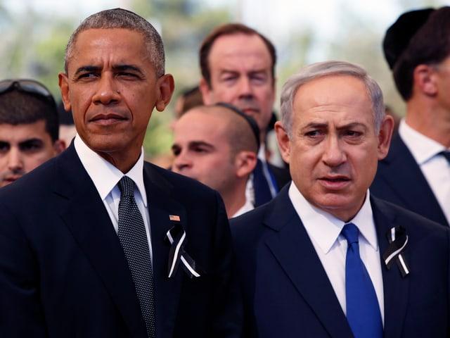 US-Präsident Barack Obama (links) und Israels Premier Benjamin Netanyahu