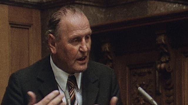 Raoul Kohler am Rednerpult.