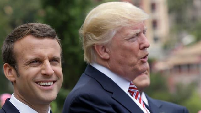 Der zweite Star neben Trump: Emmanuel Macron.