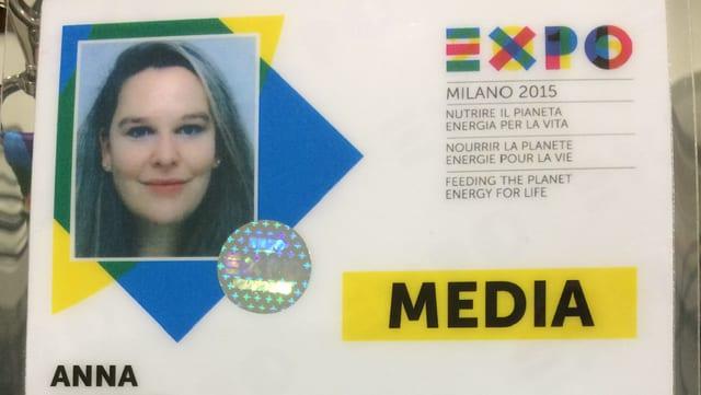 Il badge per entrar a l'ExpoMilano.