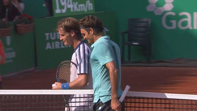 Gimeno-Traver e Roger Federer