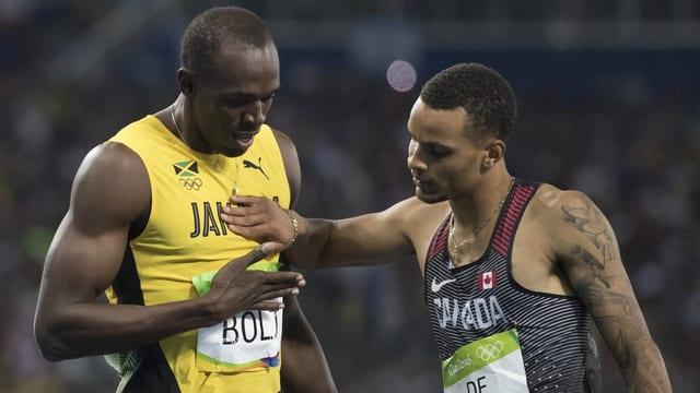 Andre De Grasse wird an der WM in London nicht gegen Usain Bolt antreten können.