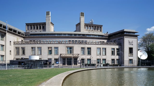 Das Gebäude des UNO-Kriegsverbrechertribunals in Den Haag.