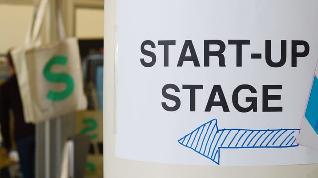 Purtret d'in segn che ha stcrit si «start up stage».