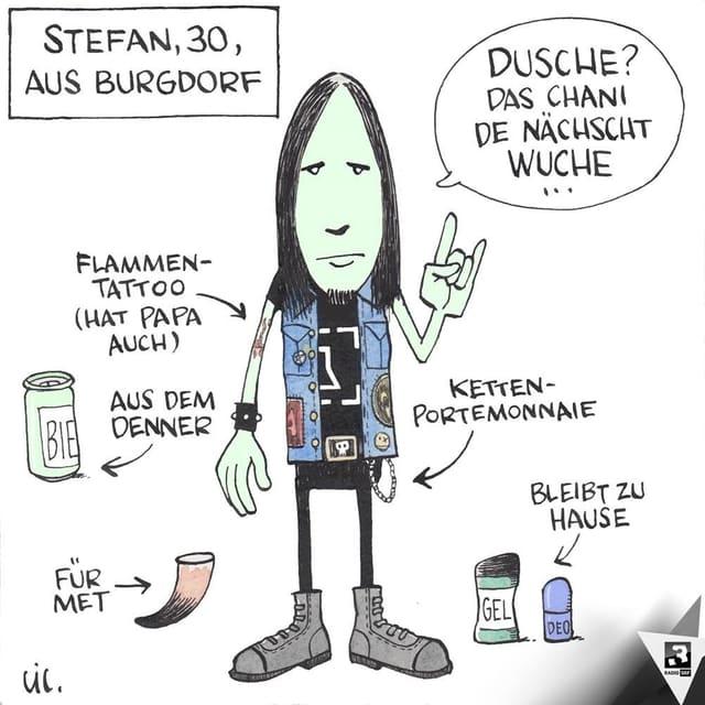 Zeichnung Stephan Lütolf/SRF 3