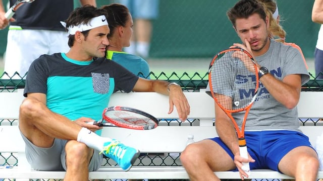 Roger Federer und Stan Wawrinka.