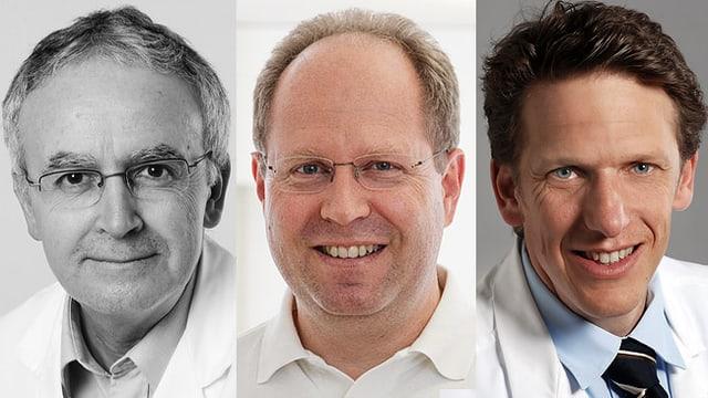 Dr. Jean-Luc Crevoisier, Dr. Thomas Cron und Prof. Christian Sticherling