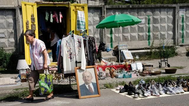 Flohmarkt in Kiew.