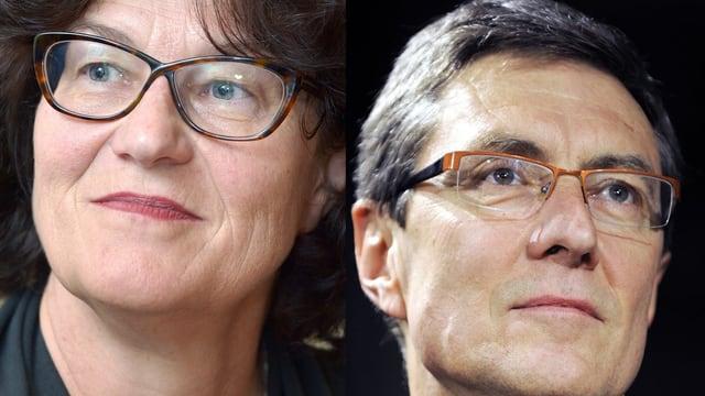 Ruth Genner und Martin Waser.