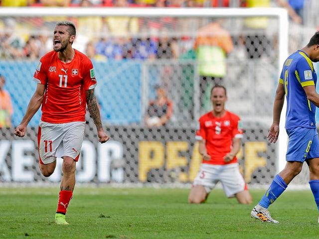 Valon Behrami nach dem 2:1 gegen Ecuador.