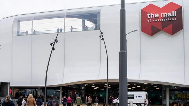 Die Mall of Switzerland in Ebikon von aussen.