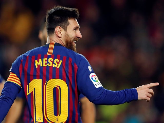 Lionel Messi bejubelt sein 2:0.