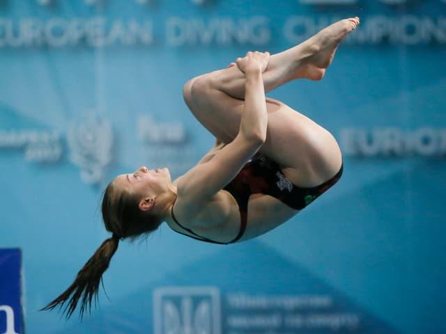 Wasserspringerin Michelle Heimberg.