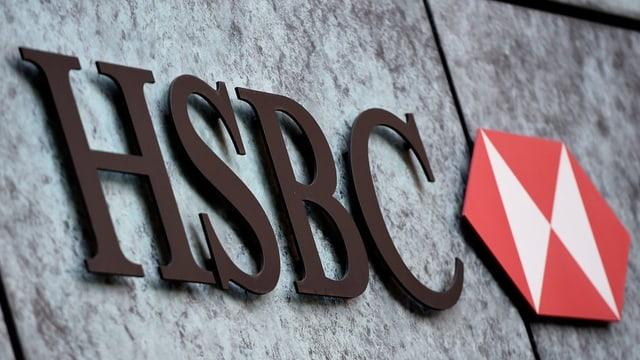Logo da la banca HSBC.