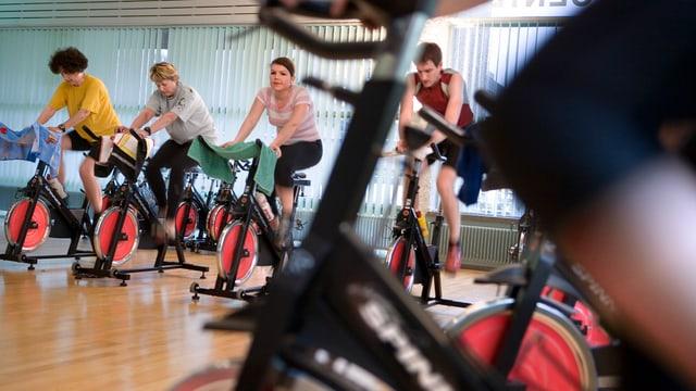 Vista en in studio da fitness
