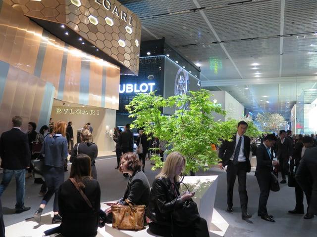 Ausstellungsräume der Uhrenmesse Baselworld.