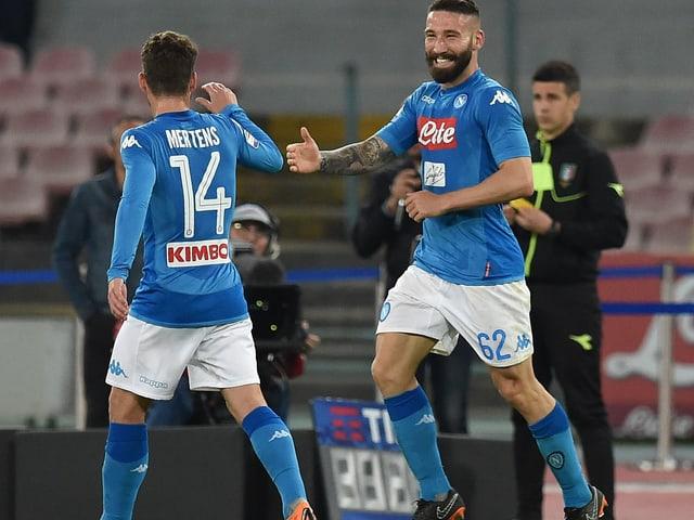 Napoli gewinnt gegen Juventus.
